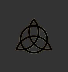 triquetra trinity knot wiccan symbol icon logo vector image
