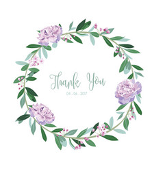 Wreath of flowers in romantic white background vector