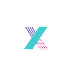 x geometric letter logo icon design vector image