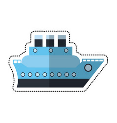 cartoon boat cruise travel sea vector image