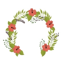 crown flower decoration vector image vector image