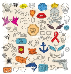 doodle design elements vector image vector image