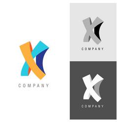 logo design element letter symbol x vector image vector image