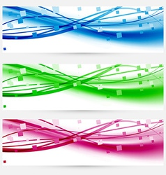 Modern abstract lines business colorful cards set vector image