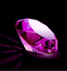 pink diamond vector image