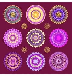 Round mandala ornaments vector image