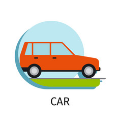 Car transport in flat style vector