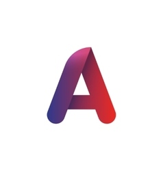 Letter a logo element template violet red vector image