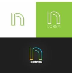letter N logo alphabet design icon set background vector image vector image