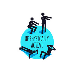Physically active icons sporty people sign set vector