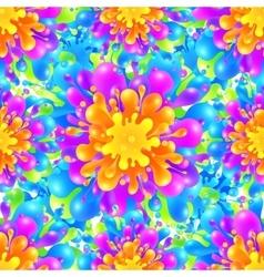 Rainbow vivid color paint splash seamless vector image