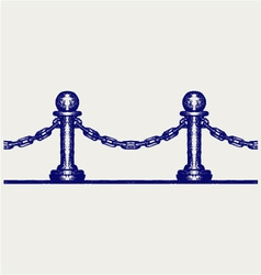 Seamless fence vector image