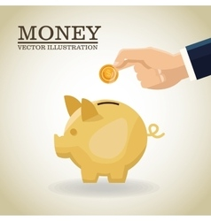 Business concept Sign of money vector image