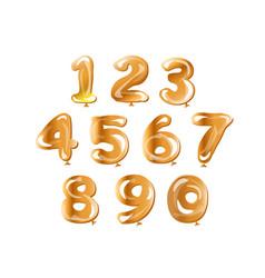 golden number set balloon vector image vector image