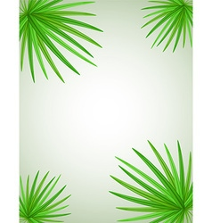 palm branch 02 vector image vector image