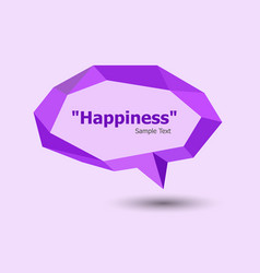 purple polygonal geometric speech bubble vector image