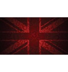 red uk number flag vector image