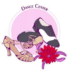 dance line color ballroom latina shoes vector image vector image
