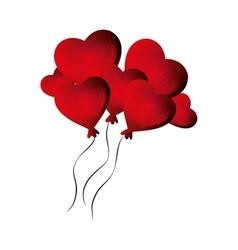Heart love card decoration vector