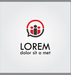 human talking abstract logo vector image