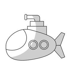 Submarine vehicle icon vector