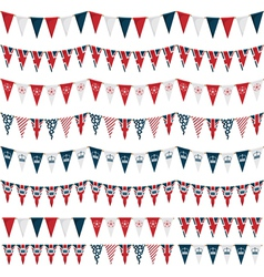 uk party bunting vector image vector image