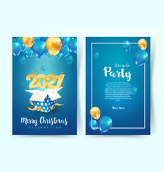 2021 happy new year invitation card merry vector image