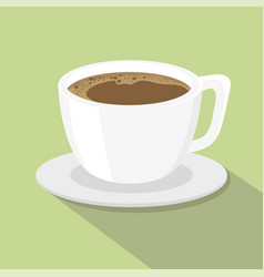 a cup of coffee flat style vector image