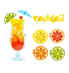 Abstract image of a cocktail vector