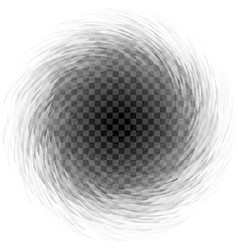 Abstract transparent spiral whirl on checkered vector