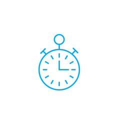 alarm clock linear icon concept alarm clock line vector image