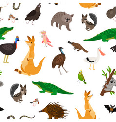 Australia animals pattern vector