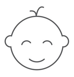 baby boy thin line icon baby and child vector image