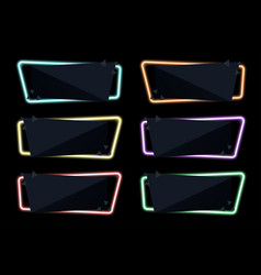 banner on night neon light special offer sale vector image