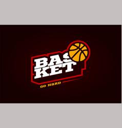 Basketball mascot modern professional sport vector