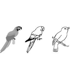 Bird icon on white background vector