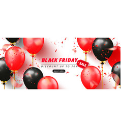 black friday sale advertising poster with black vector image
