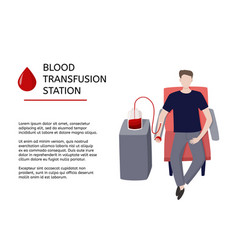 Blood transfusion station graphic design template vector