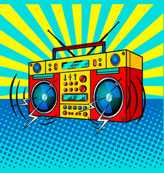 Boombox comic book style vector
