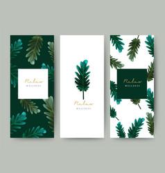 branding packageing leaf nature background logo vector image