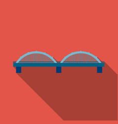 bridge icon flate single building icon from the vector image