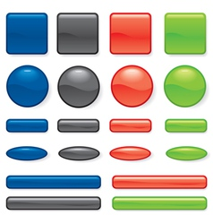 buttons different vector image