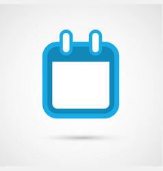 calendar icon - blank vector image