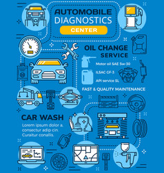 Car diagnostics and maintenance infographics vector