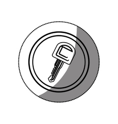 Car key isolated vector image