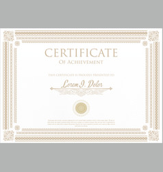 Certificate or diploma template 5 vector