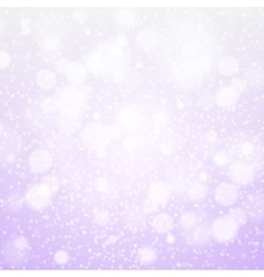 Christmas snowflakes background purple light vector image
