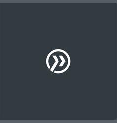 circle or right arrow symbol design vector image