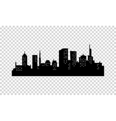 City Silhouette Black color Panorama of vector