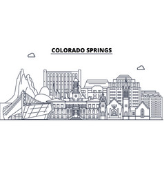 Colorado springs united states outline travel vector